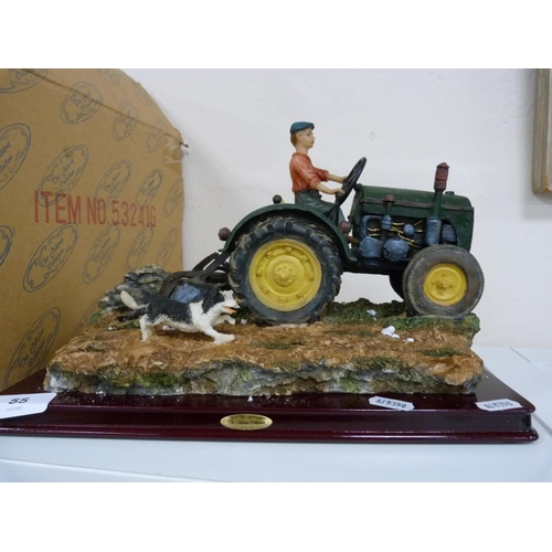 Juliana Collection tractor ploughing.