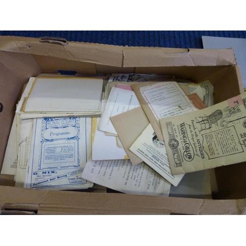 10 - Theatrical Ephemera.A carton of old programmes, etc.