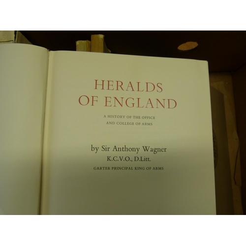 11 - Geneology & Heraldry.A carton of various quarto vols.