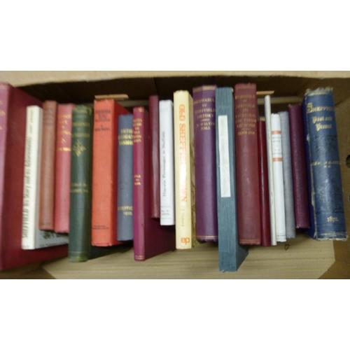 13 - Sheffield.21 various vols. re. Sheffield & district.