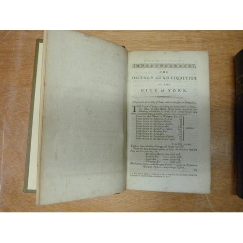 17 - (DRAKE FRANCIS).Eboracum or The History & Antiquities of the City of York. 2 vols. 1...