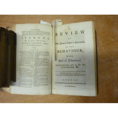 18 - JACOBITE INTEREST. (Ralph Griffiths),The Wanderer or Surprizing Escape. 1747; bound in old calf (t...