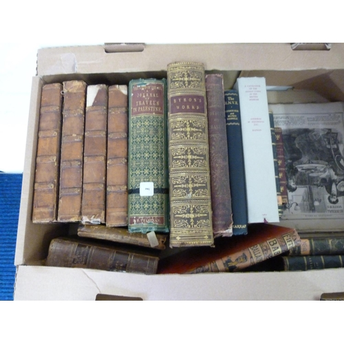 23 - Leather bound & others.A carton of various vols.