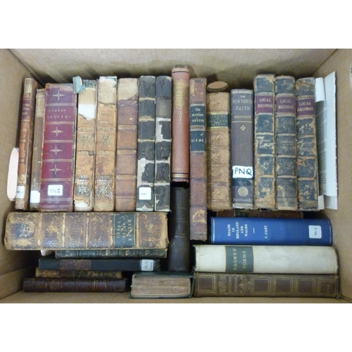 24 - Leather bound & others.A carton of various vols.