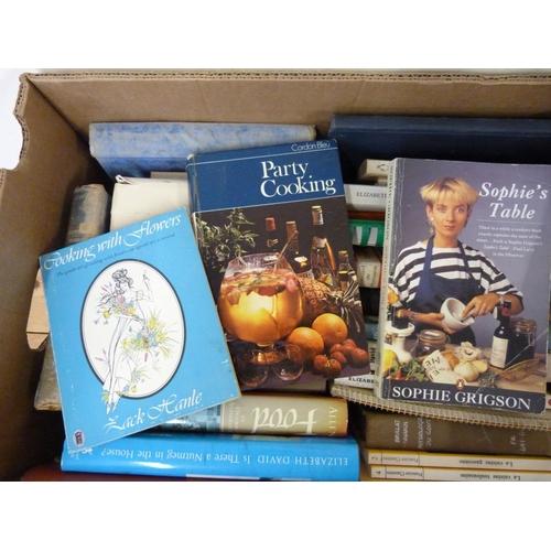 25 - Cookery.A carton of books & paperbacks, incl. Elizabeth David.
