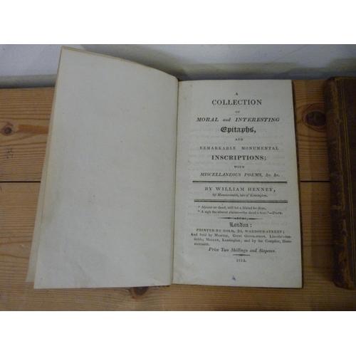 28 - HENNEY WILLIAM.A Collection of Moral & Interesting Epitaphs & Remarkable Monumen...