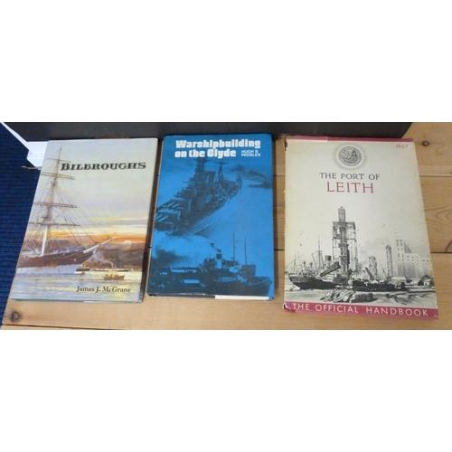 30 - Shipping & Railways.A carton of books & softback publications incl. Scottish int...