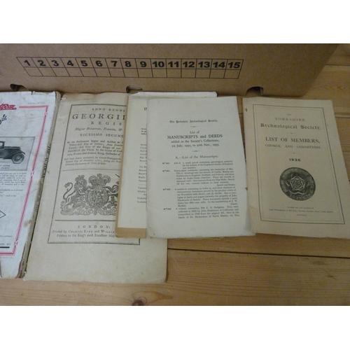 31 - Softback Publications & Ephemera.A large carton incl. Yorkshire topographical intere...
