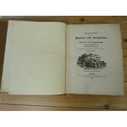 36 - DUNCUMB JOHN.Collections Towards the History & Antiquities of the County of Hereford...