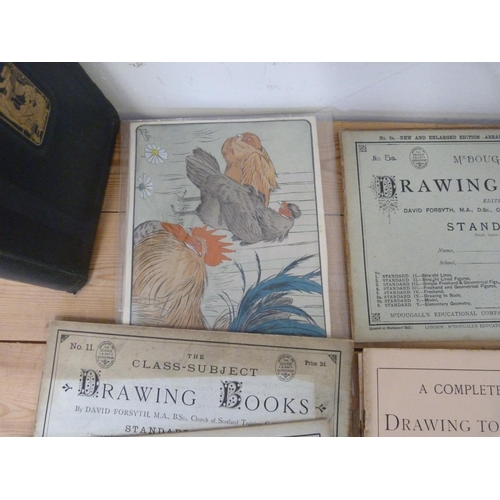 37 - Education.A bundle of McDougall's Drawing Books & some other items; also Beeton's Di...