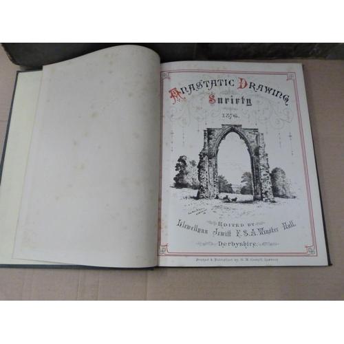 44 - ANASTATIC DRAWING SOCIETY.Vol. for 1876. Plates & illus. Quarto. Orig. dec. green cl...