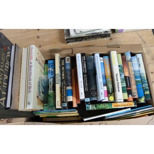 53 - Various.A carton of books & softback publications incl. some hill walking, climbing,...