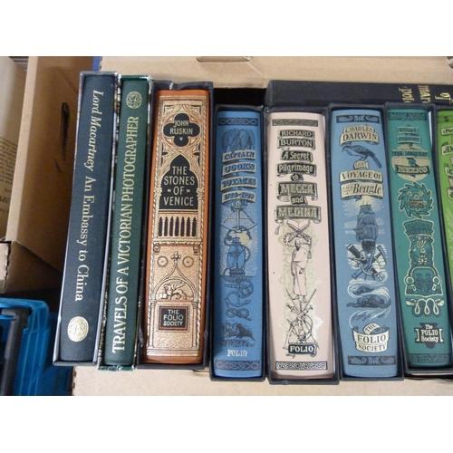 57 - FOLIO SOCIETY.11 vols. in slip cases, travel & topography.