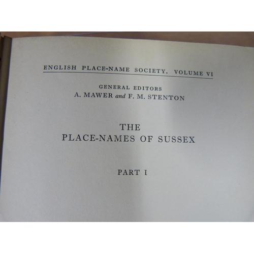 7 - ENGLISH PLACE-NAME SOCIETY.10 various vols., mixed cond.