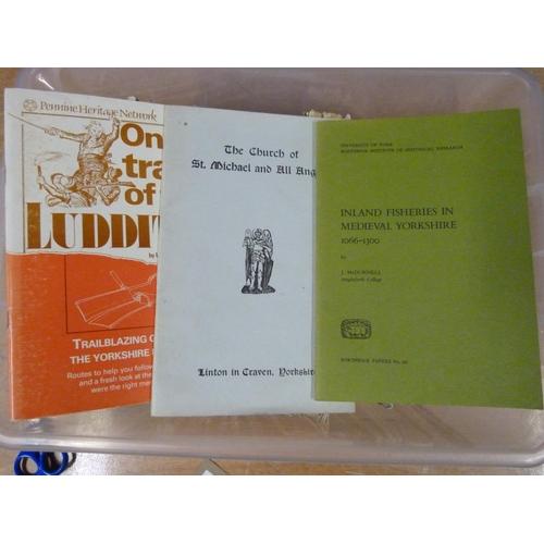 8 - Yorkshire & Northern England.A carton of softback publications.