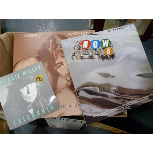 19 - Carton of LPs including Wham, Kristofferson, Four Tops, Natalie Cole, Womack & Womack etc.