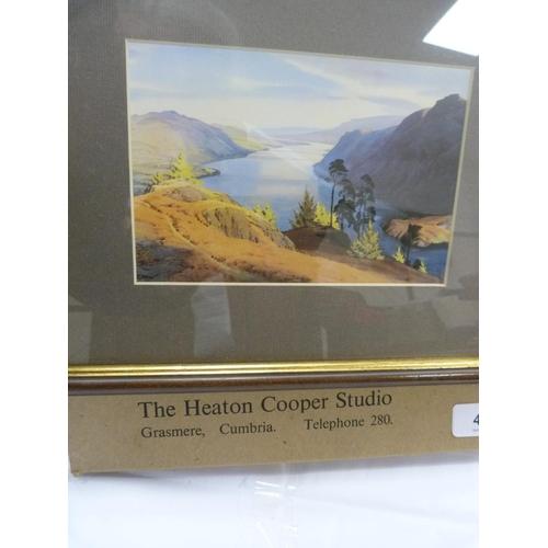 43 - Two framed prints depicting loch scenes.