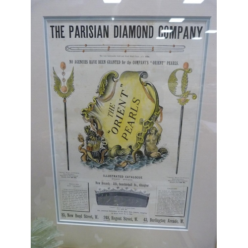 50 - Period print, 'The Parisian Diamond Company'.