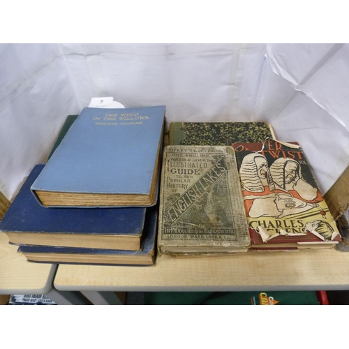 8 - Vintage books including Ivanhoe, Wind in the Willows, Oliver Twist etc.