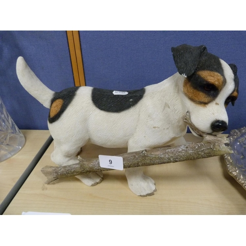 9 - Resin figure of a Jack Russell.