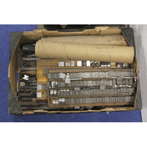 50 - Ten-Eight Printing Machinefor Show Cards. Maker Ayers Jardine Ltd.; with several boxes of type, muc...