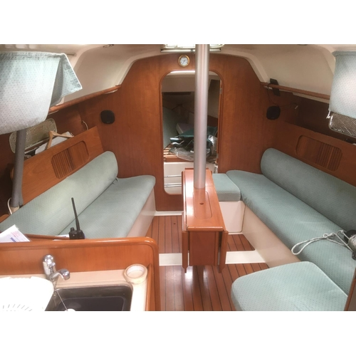 1 - Sail and motor yacht, Ali Baba, built by Chantiers Beneteau SA, France, 1995, 9.70m length, 3.45m br...