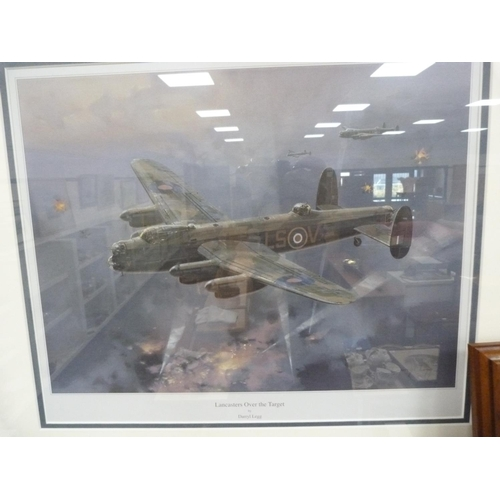 41 - JIM DAVIS, Winged Victory, print, and another by Darryl Legg, 'Lancasters over Target', and '617 Out...