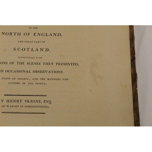 48 - SKRINE HENRY.Three Successive Tours in the North of England & Great Part of Scotland. Large pa...