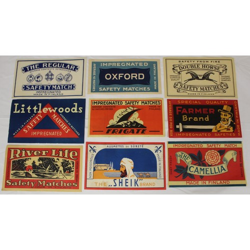 42 - Safety Match Ephemera.A box of Foreign & British safety match trade box labels & advertisi...