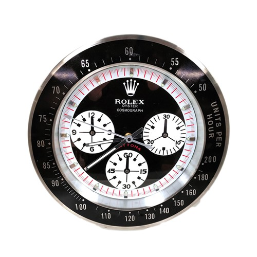 Rolex style advertising wall clock.