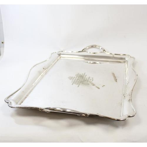 18 - E.p. rectangular tea tray Midland Bank Carlisle 1930, 63cm.