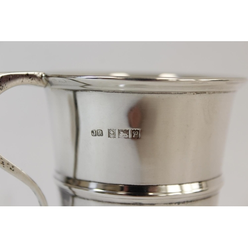 2 - Silver cup and napkin ring, 78g.