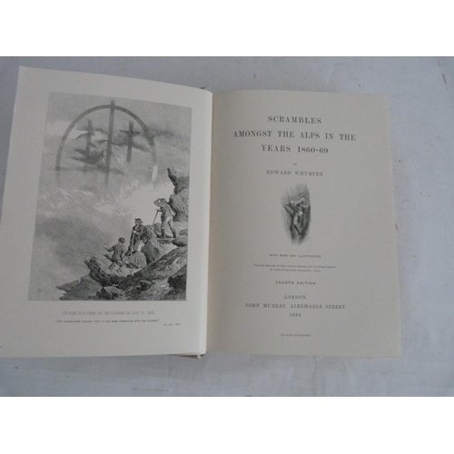 2 - WHYMPER EDWARD.Scrambles Amongst the Alps in the Years 1860-69. Fldg. maps, plates &...