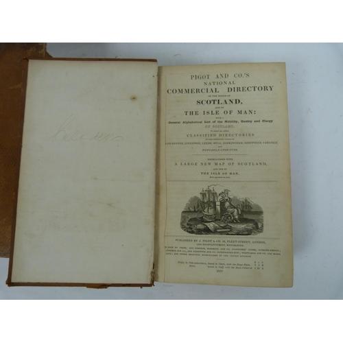 21 - PIGOT & CO.Commercial Directory of Scotland for 1825/6 & 1837. 2 vols. in poor b...