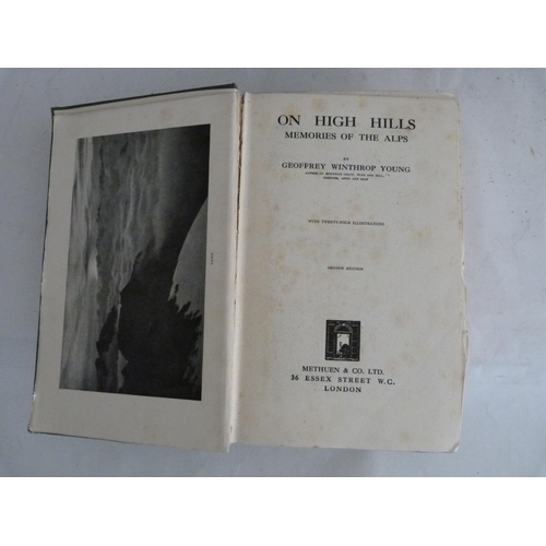 3 - WINTHROP YOUNG G.Mountain Craft. Illus. Orig. green cloth. 2nd ed., 1921; also another b...