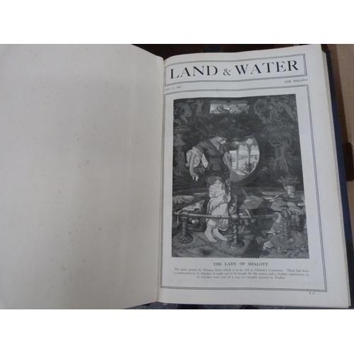 41 - Land & Water.6 bound vols. of this periodical. Illus. incl. Raemaekers cartoons. Folio. Dark h...
