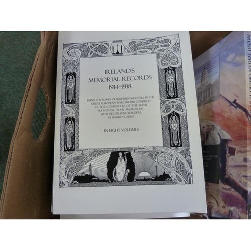 43 - World War I.Ireland's Memorial Records. 8 quarto vols. in pict. card wrappers. Reprints;...