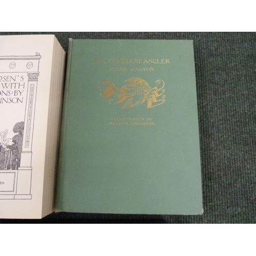 46 - RACKHAM ARTHUR (Illus).The Compleat Angler. Col. plates & other illus. Quarto. Orig....