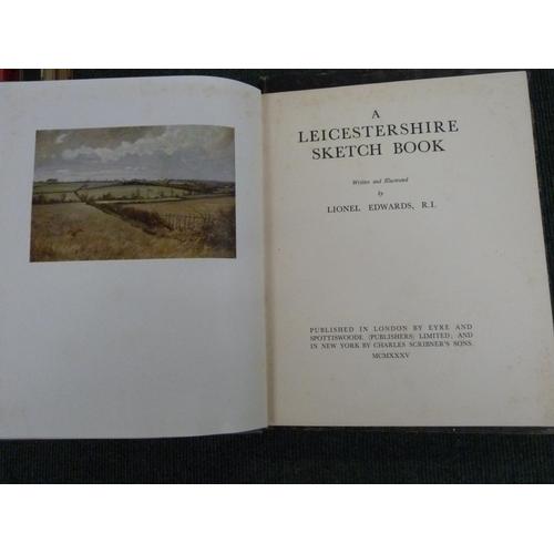 48 - EDWARDS LIONEL.A Leicestershire Sketch Book. Col. plates & other illus. Quarto. Orig. blue clo...