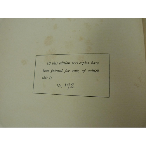 54 - HATELY WADDELL P.An Old Kirk Chronicle (East Lothian). Ltd. ed. 172/200. Plates & il...