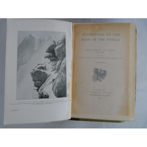 6 - CONWAY SIR W. M.The Alps from End to End. Illus. Orig. two tone cloth, worn. 1895; also ...