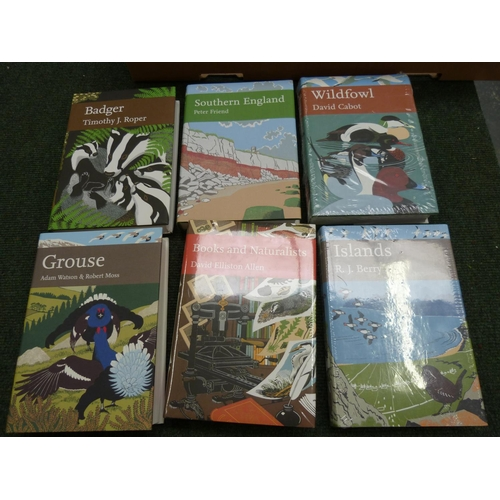61 - Collins New Naturalist Series.6 vols. in d.w's, some in glassine wrappers, all signed by the autho...