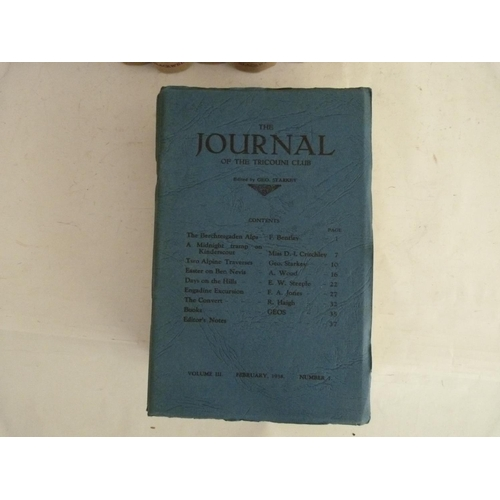 7 - MOUNTAINEERING LIBRARY.7 various vols. in orig. cloth; also 4 Journals of The Tricouni Club, orig....