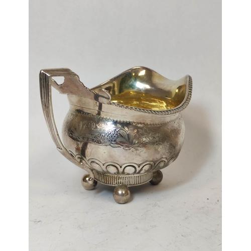 22 - Silver milk or cream jug matching the preceding lot, by Robertson & Walton, Newcastle, no letter...