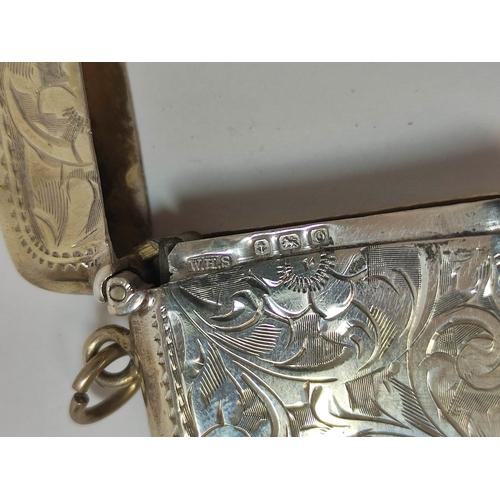 32 - Silver pen holder and propelling pencil by S Mordan & Co, a pencil case 1903, a vesta case...