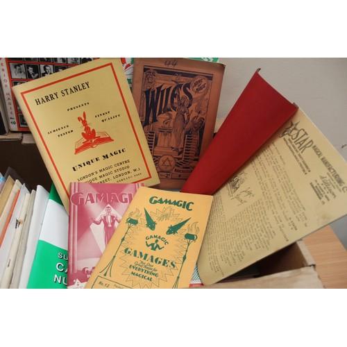 44 - Magic & Conjuring.A carton of booklets & ephemera incl. many interesting catalog...