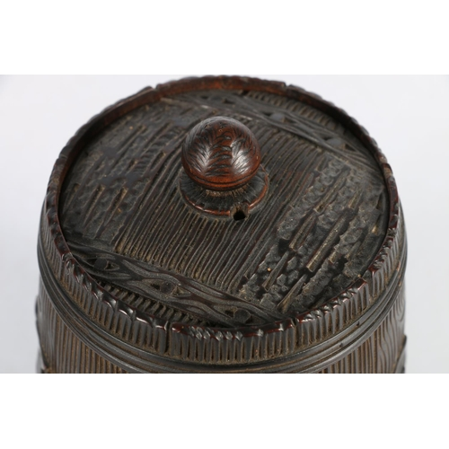 12 - Black Forest style tobacco jar, 15cm