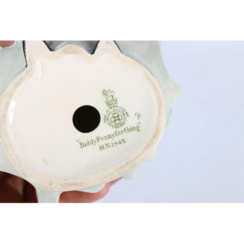 14 - Royal Doulton HN1843 Biddy Penny Farthing, 23cm