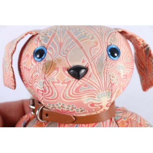 2 - Liberty of London bean-filled dog, 16cm