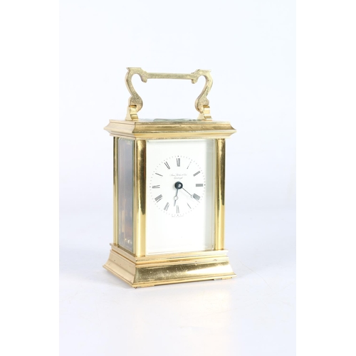 21 - James Ritchie & Sons of Edinburgh brass and glass carriage clock